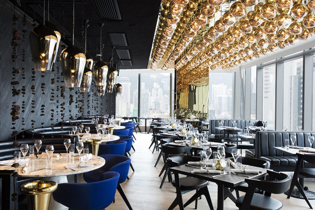 Tom Dixon talent at the Alto restaurant interiors in Hong Kong