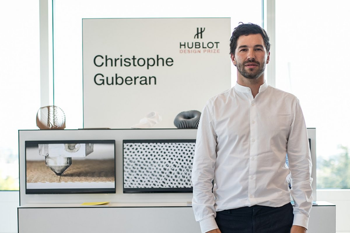 Christophe Guberan, winner at the 2nd edition of the Hublot Design Prize