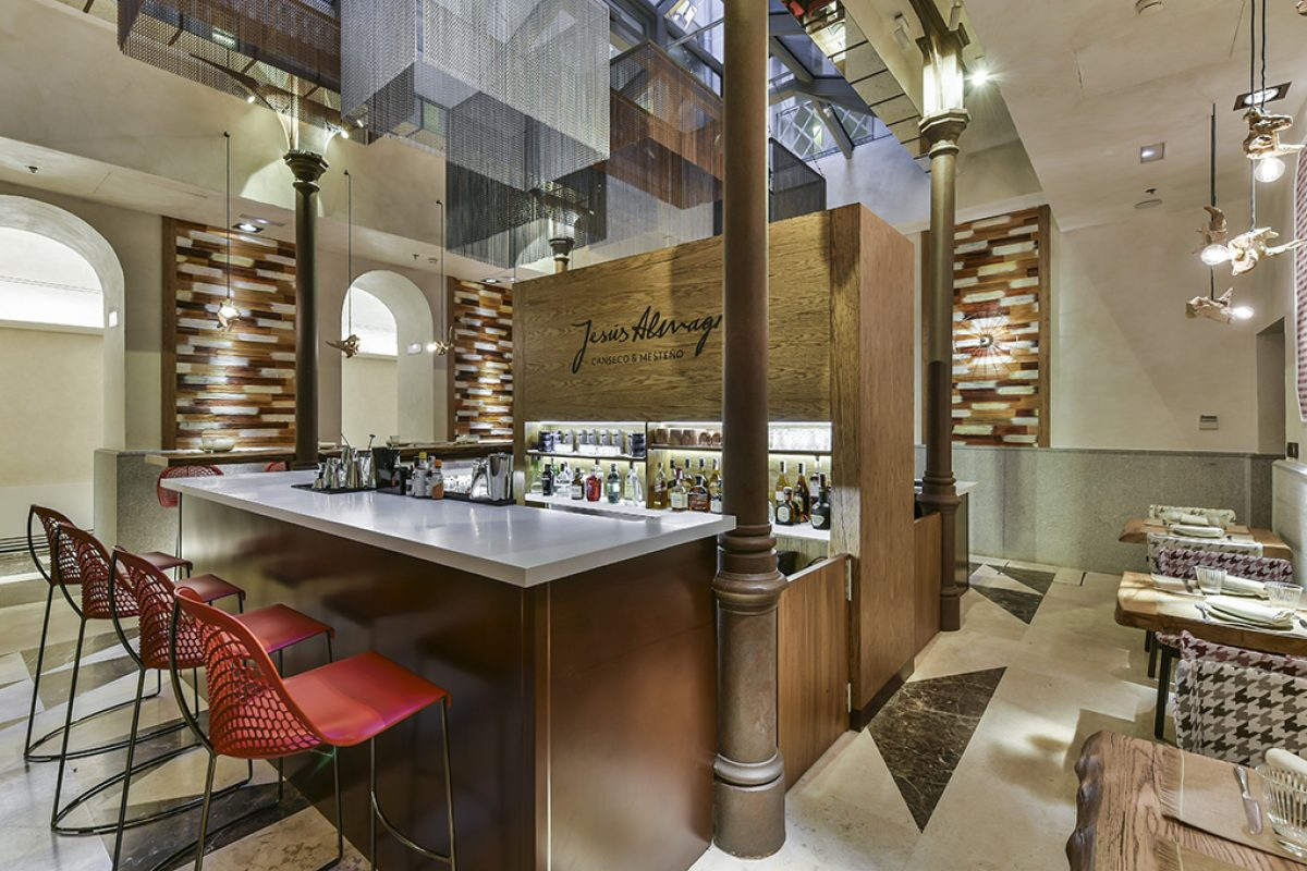 Canseco & Mesteño, a customized restaurant for chef Jesus Almagro designed by Aries Interioristas