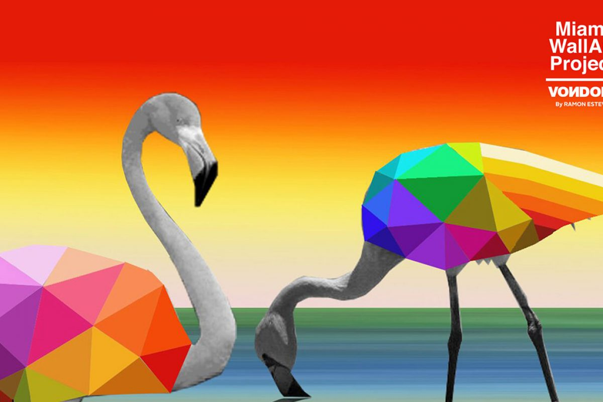 Okuda San Miguel will design the façade of the new showroom of Vondom in USA as winner of Miami Wall Art Project