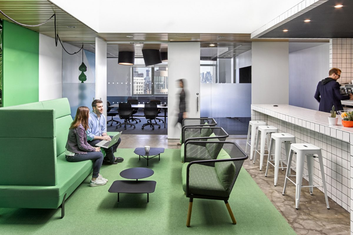 Ghislaine Viñas Studio chooses Viccarbe to furnish the new offices of Barrows Agency in New York