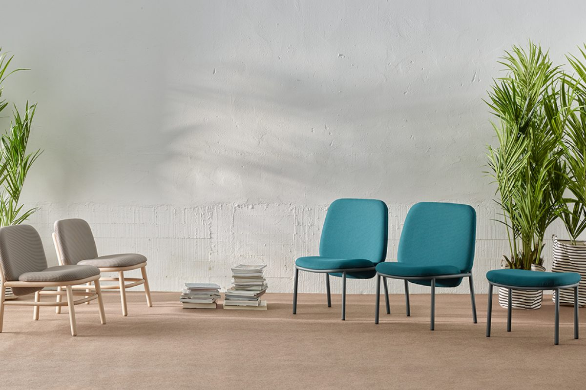 Versatile seating collection Lana designed by Yonoh for Ondarreta