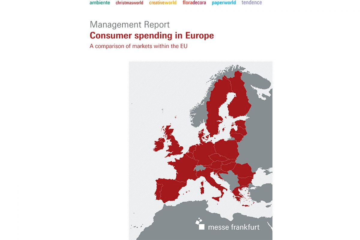 Management Report on 'Consumer spending in Europe' to be published at Ambiente 2017