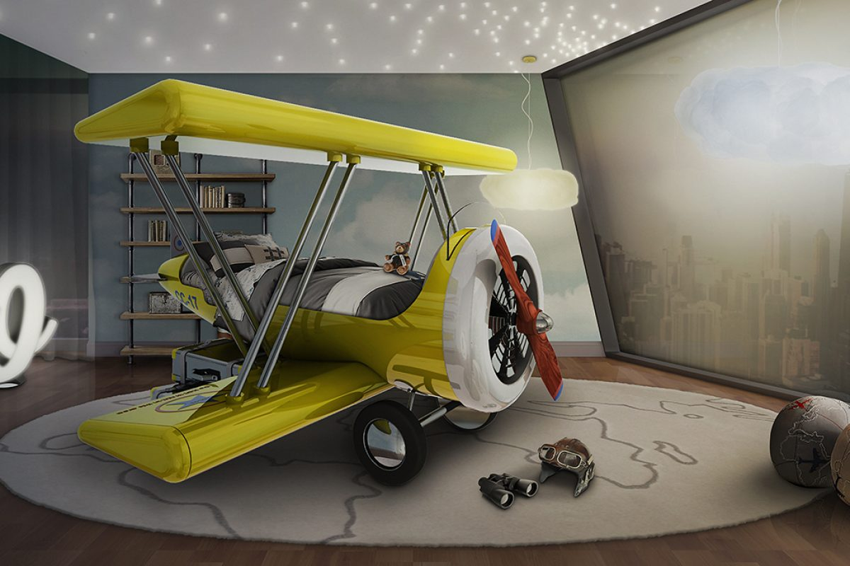 Flystastic Airplane by Circu. Themed Bed for Daring Kids