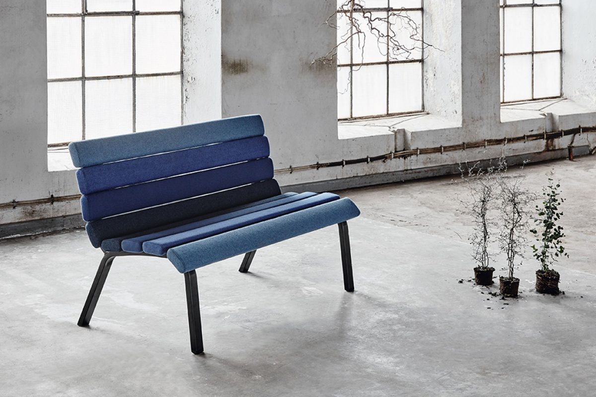 Park by Materia. The classic park bench becomes an indoor sofa