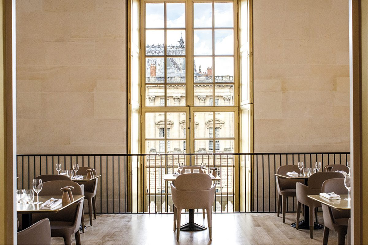 Case Studies: Pedrali brings a royal touch with the Ester armchair at the ore-Ducasse au château de Versailles restaurant
