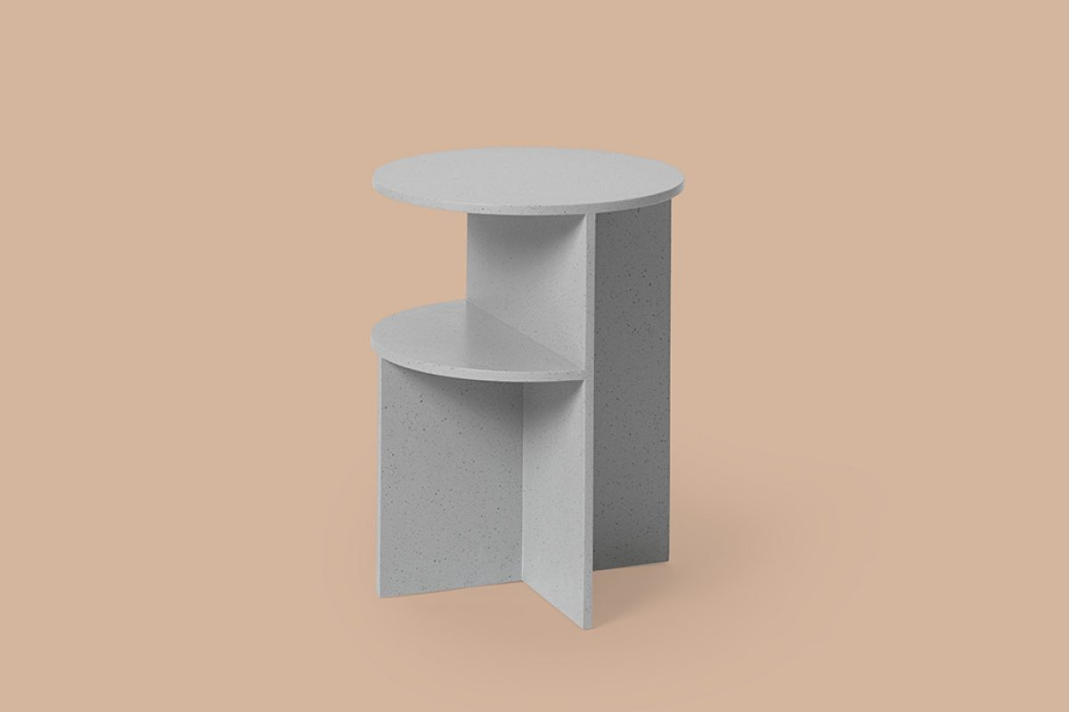 Muuto introduces Halves, a sculptural side table and first time collaboration with MSDS Studio