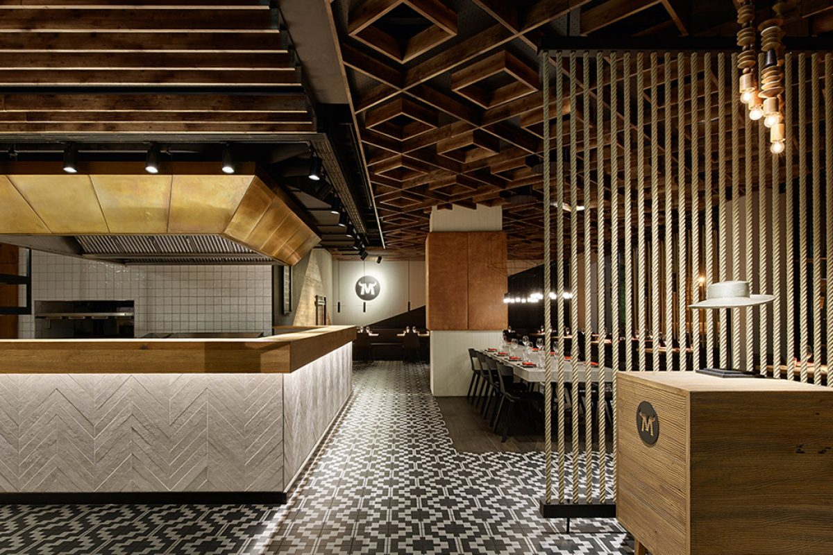 Ippolito Fleitz Group carried out a radical interior design change for the Maredo steak restaurant in Berlin