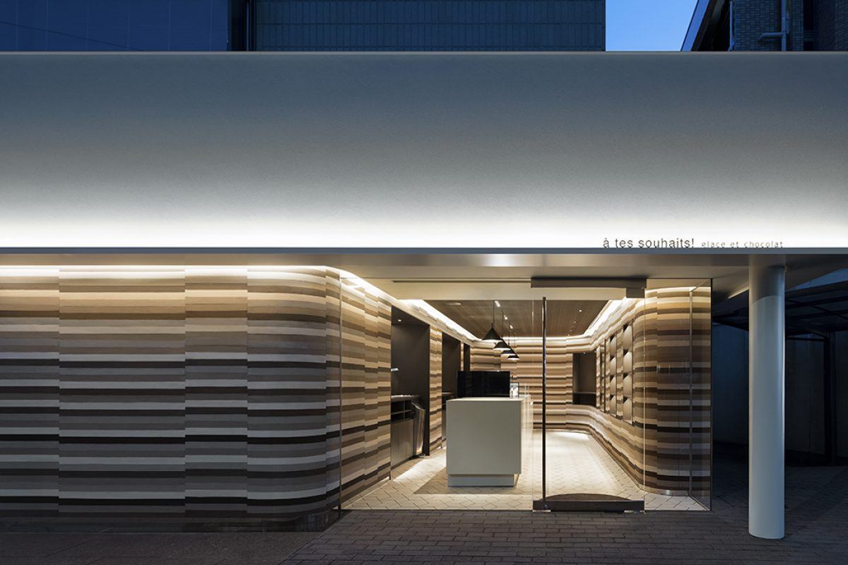 à tes souhaits! Glace et chocolat. New ice cream and chocolate shop in Tokyo designed by nendo