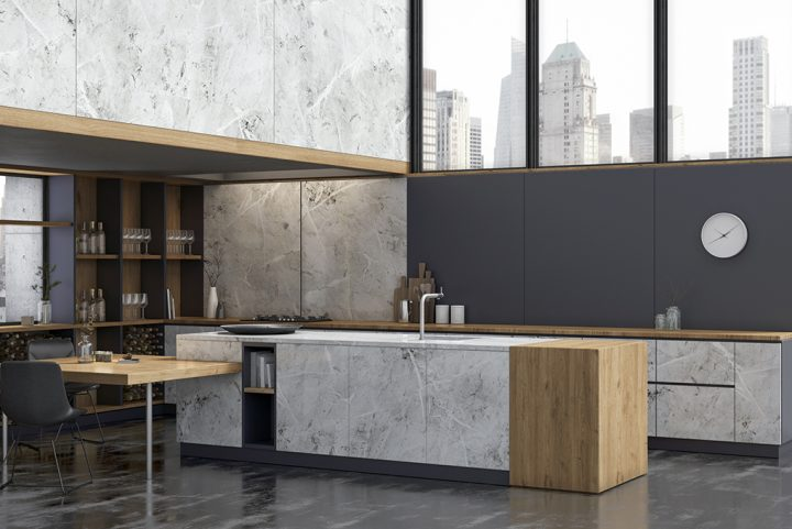Unique kitchens with the new Stucco and Fusion finishes by Innovus
