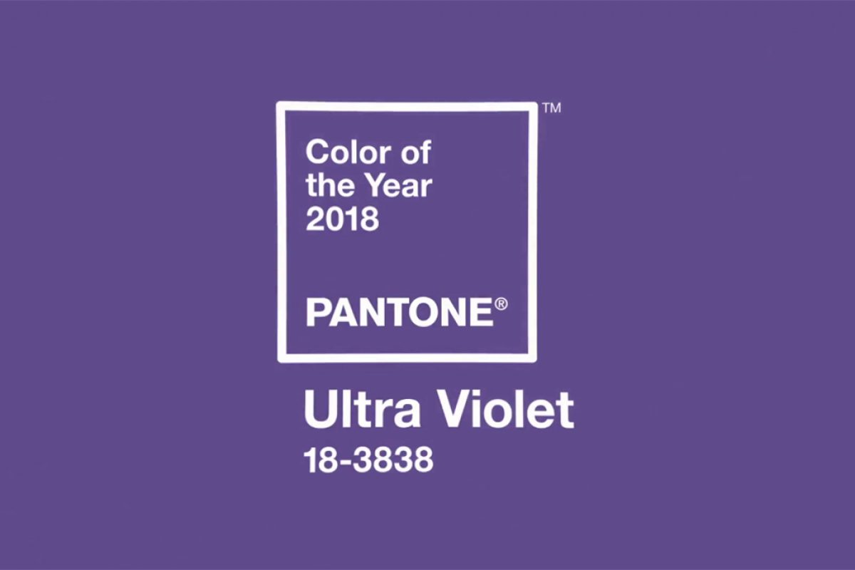 Pantone 18-3838 Ultra Violet: Pantone Color of the Year 2018. Inventive and imaginative, Ultra Violet lights the way to what is yet to come