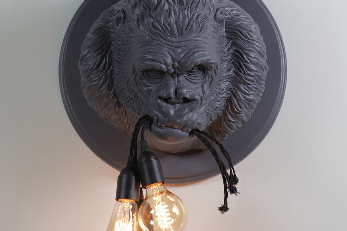 "Light+Building 2018 Preview: Ugo Rilla wall lamp by Matteo Ugolini for Karman. The new piece of its ""zoological"" ironic collection"