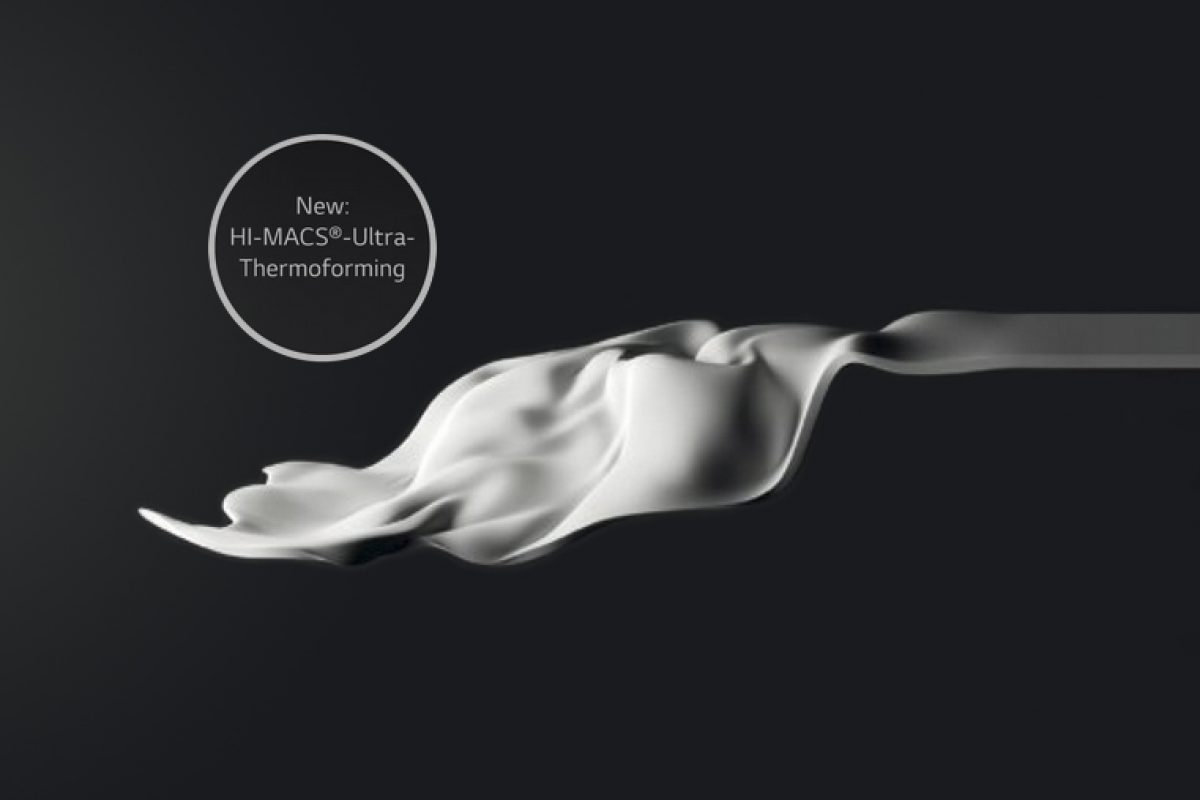 HI-MACS® Ultra-Thermoforming by LG Hausys: a revolutionary innovation that extends the limits of acrylic stone design