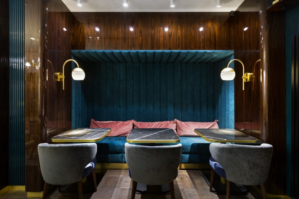 Oleg Volosovsky of Loft Buro designed The Chicken Kiev Restaurant as a tribute to his origins