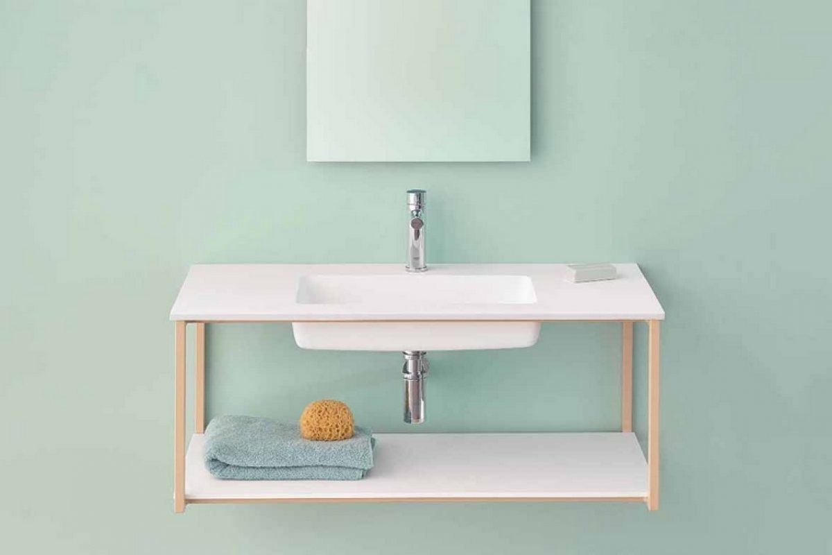 Sanycces presents its first bathroom furniture collection, UNO, using HI-MACS® technology
