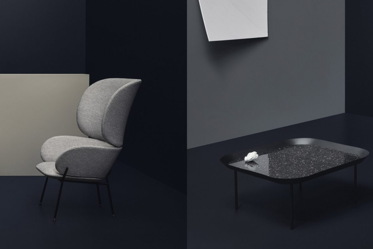 Carmen armchair and Aro coffee table: The new by Yonoh for scandinavian design brand Bolia