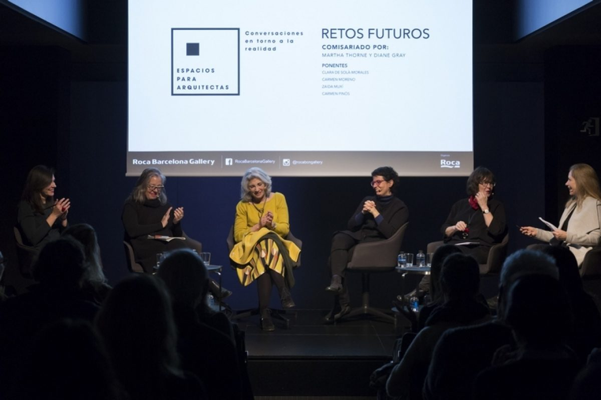 The debate 'Spaces for architects' dealt with the issue of the women condition in the sector, with the participation of 4 recognized female architects at Roca Barcelona Gallery