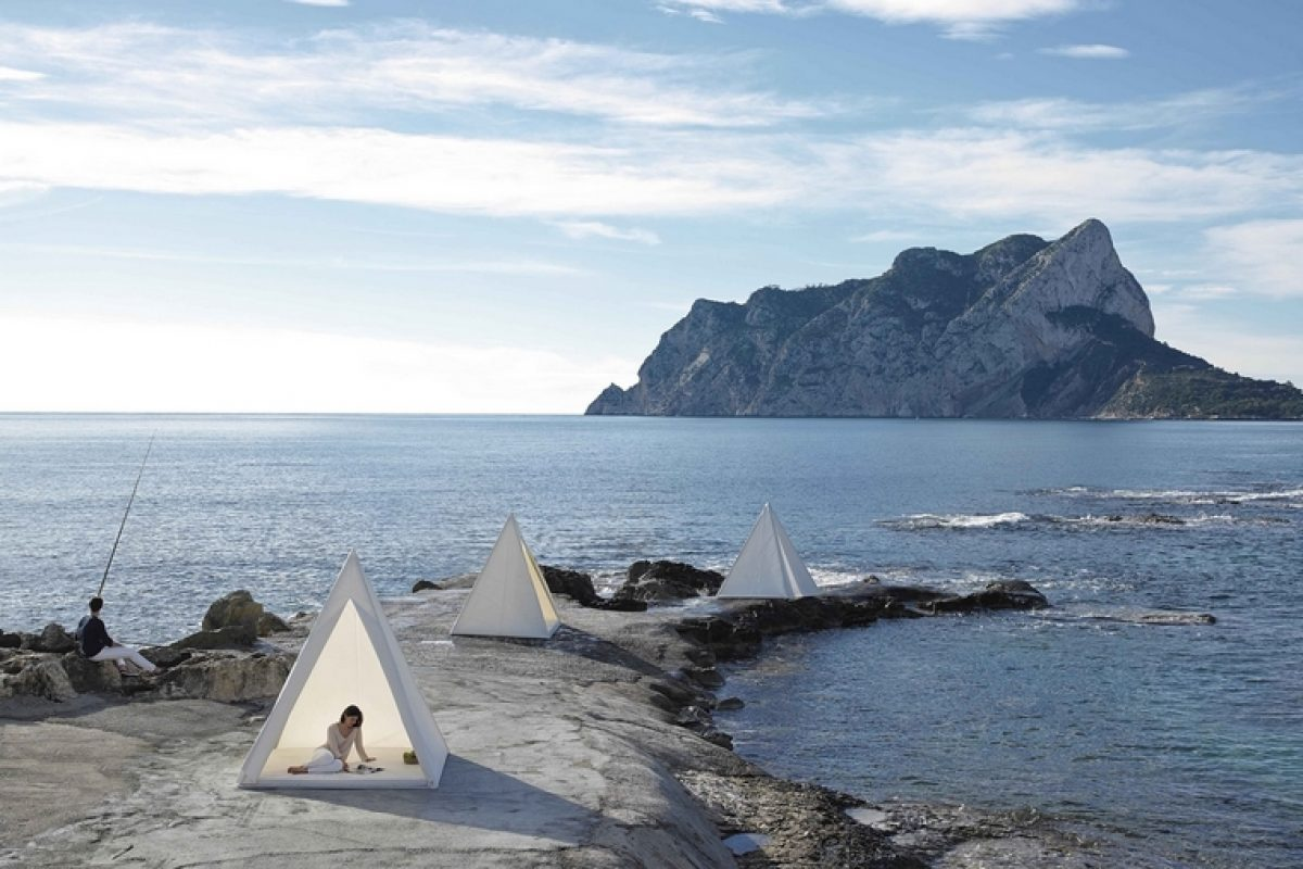 José Gandía-Blasco designed TIPI for GANDIABLASCO. A contemporary reinterpretation of the mythical Indian tepees