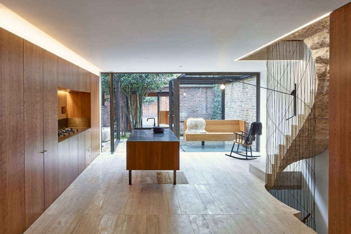 The studio GROUPWORK + Amin Taha renovates a house in London with touches of AHEC American cherry tree wood
