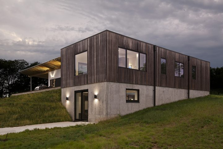 Copperwood House, Haus Architects creates a modern family dwelling in Indiana with thermally modified American ash