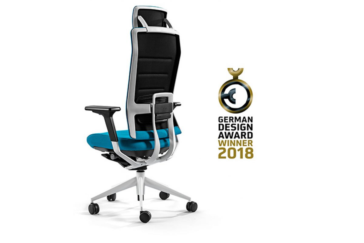 The TNK Flex task seating with high-performance technology by Actiu, awarded with the German Design Award 2018
