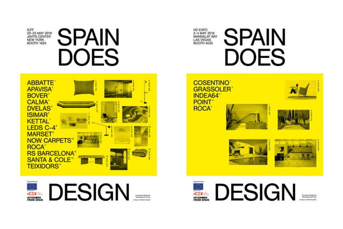 The Spanish design travels in May to the United States to showcase its collections at two of the most important design events