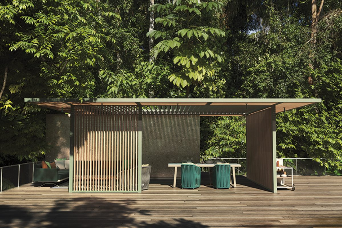 PH1 Pavilion by Kettal studio. Minimal architecture for greater integration in any environment