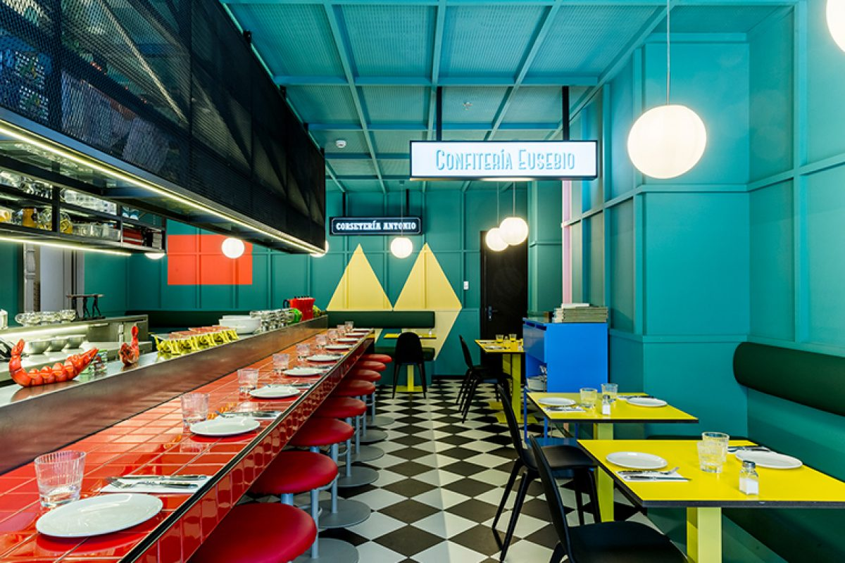 Las Chicas, Los Chicos y los Maniquís, the singular restaurant of the Axel Hotel Madrid designed by El Equipo Creativo