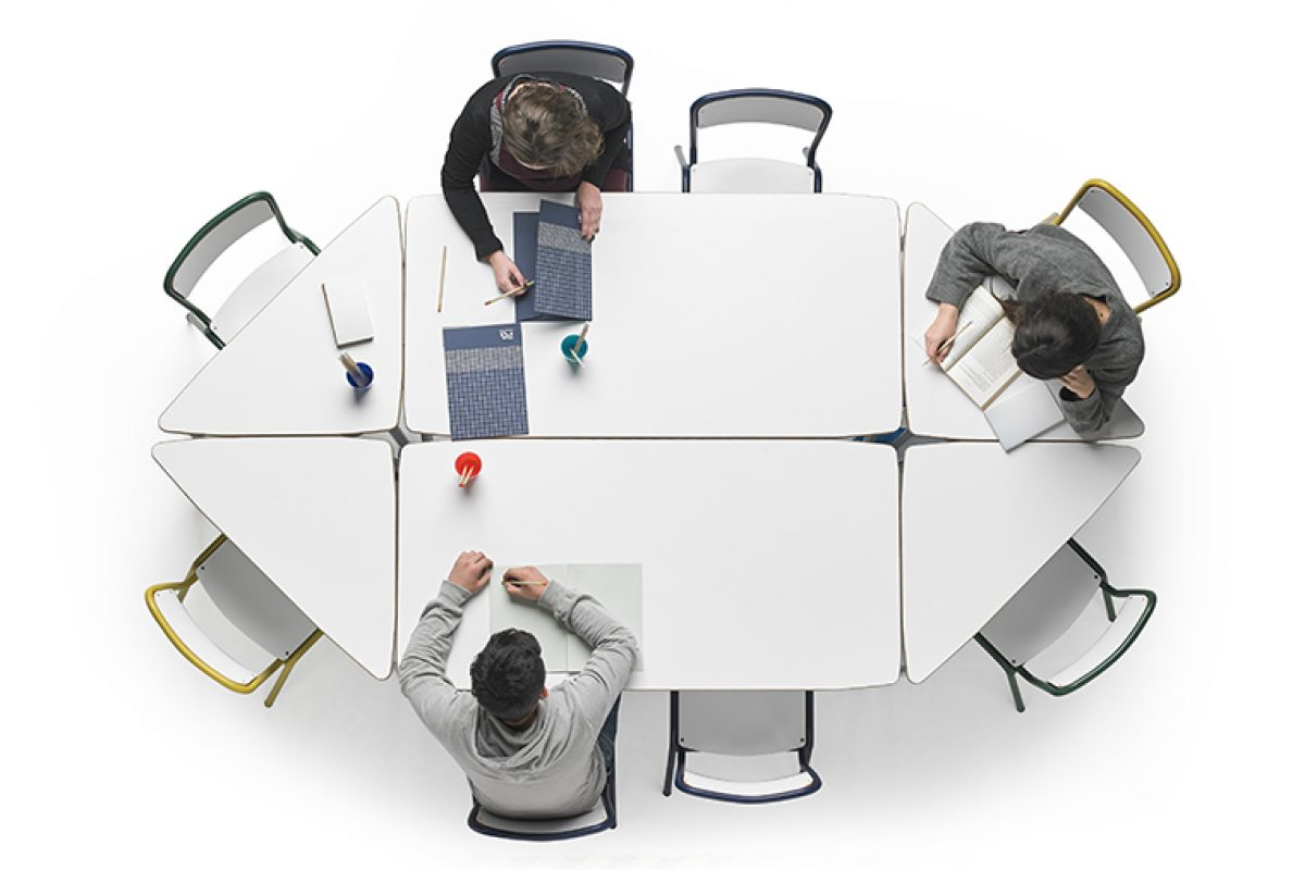 Alegre Design designed furniture for tomorrow's classrooms for Federico Giner that favour team and collaborative work