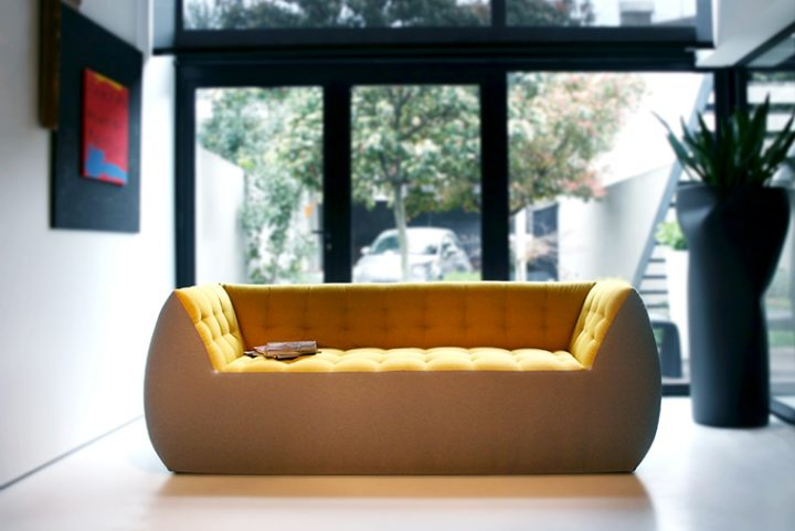 Spongy, the comfortable, fluffy and playful sofa designed by Marco Serracca for Two.Six