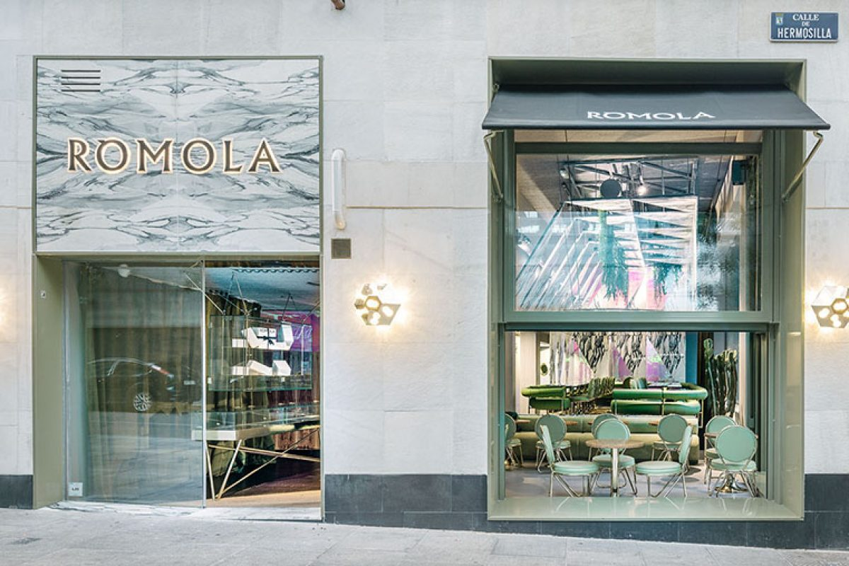 Ròmola Restaurant, a marble-made tent in the galaxy designed by Andrés Jaque / Office for Political Innovation