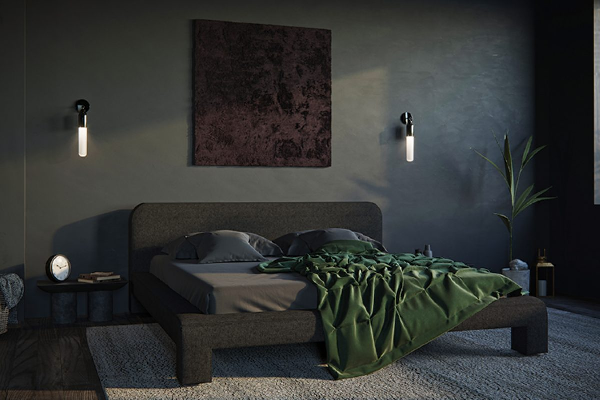Faina offers its vision of a minimalistic bedroom with its felted wool beds