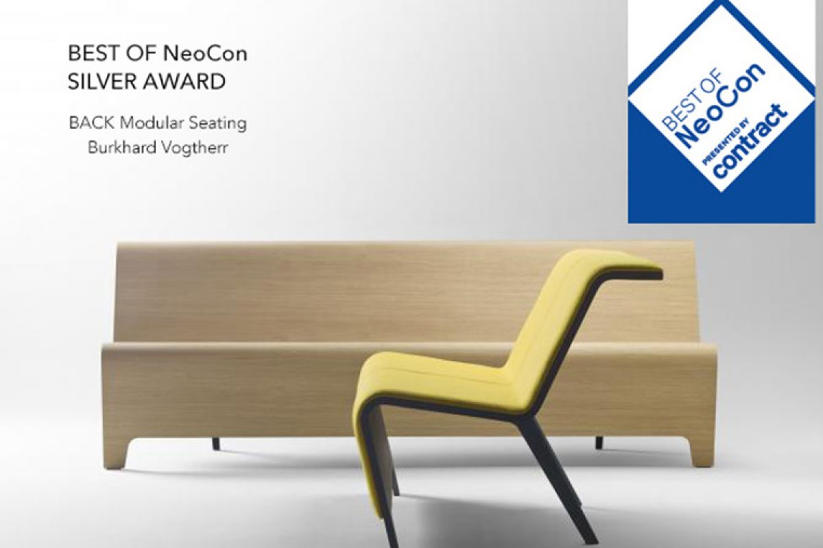 "BACK Modular Seating by Sellex triumphs in the United States and receives the ""Silver Award Best of NeoCon"""