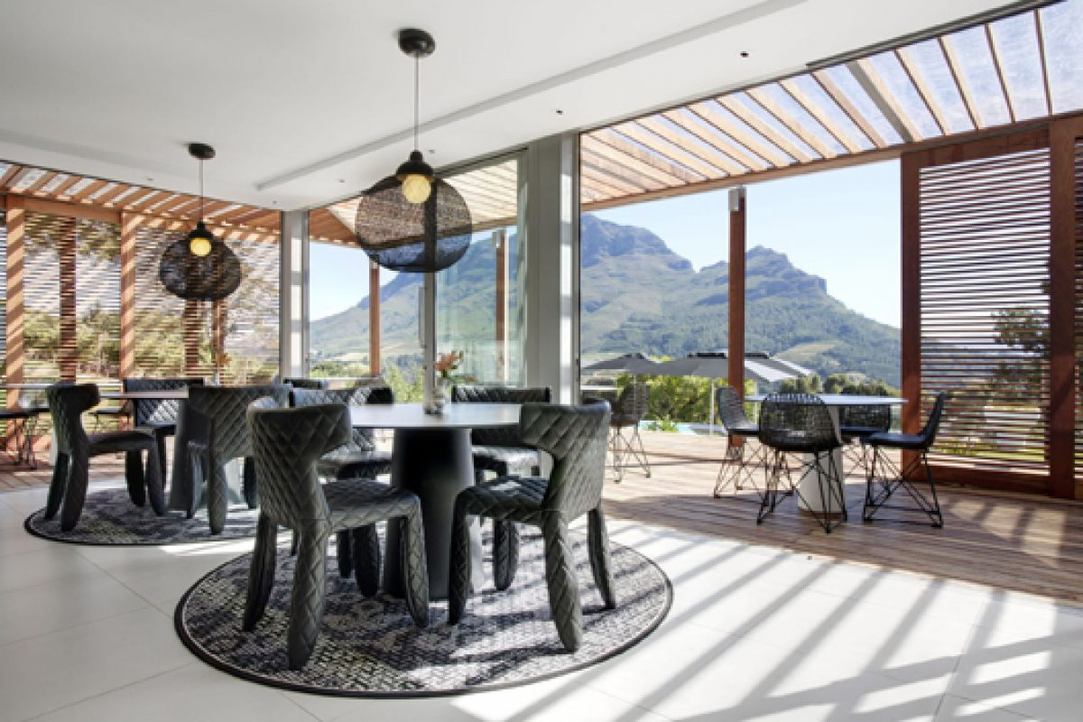 Moooi furnishes the luxurious Clouds Hotel in Stellenbosch, South Africa