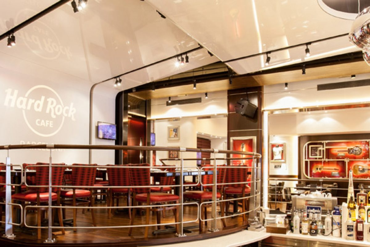 UK design studio Fuse redecorates the Hard Rock Cafe in Barcelona