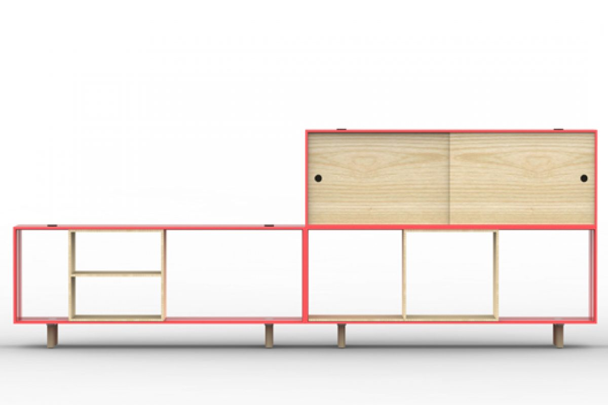 Spanish designer Tomás Alonso creates the Offset shelving system for Italian company Maxdesign