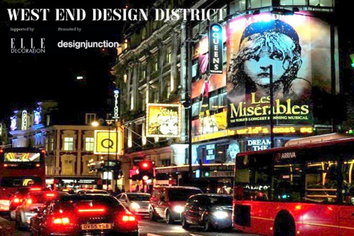 West End Design District is set to be the latest must-visit destination at London Design Festival 2013