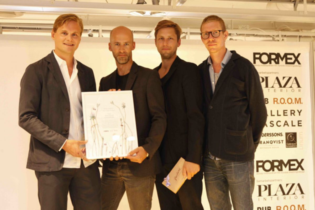 Mattias Stenberg, best young Nordic designer at the Nova Design Award in Formex 2013