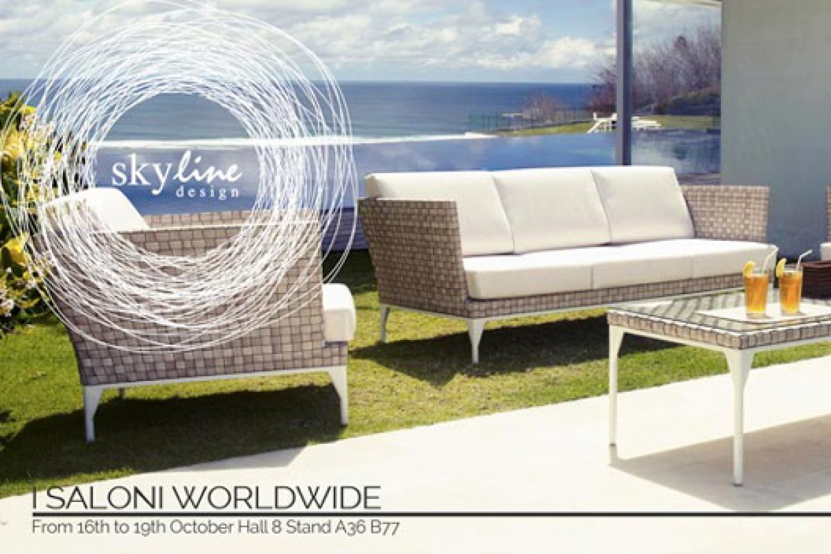 The Skyline Design outdoor furniture can be seen at I Saloni Worlwide in Moscow