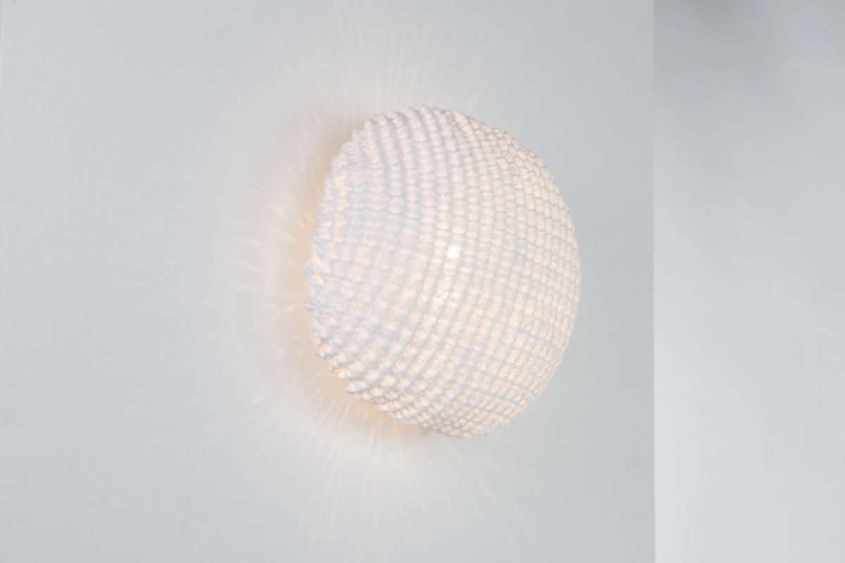 Tati wall lamp by Arturo Alvarez. Silicone transforms itself in warmth