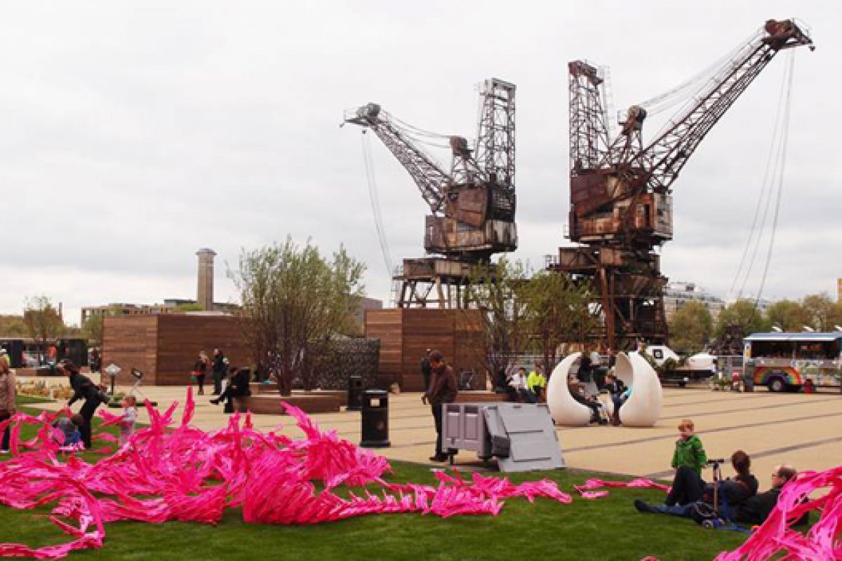Kebony's sustainable wood featured in Battersea Power Station's pop-up park