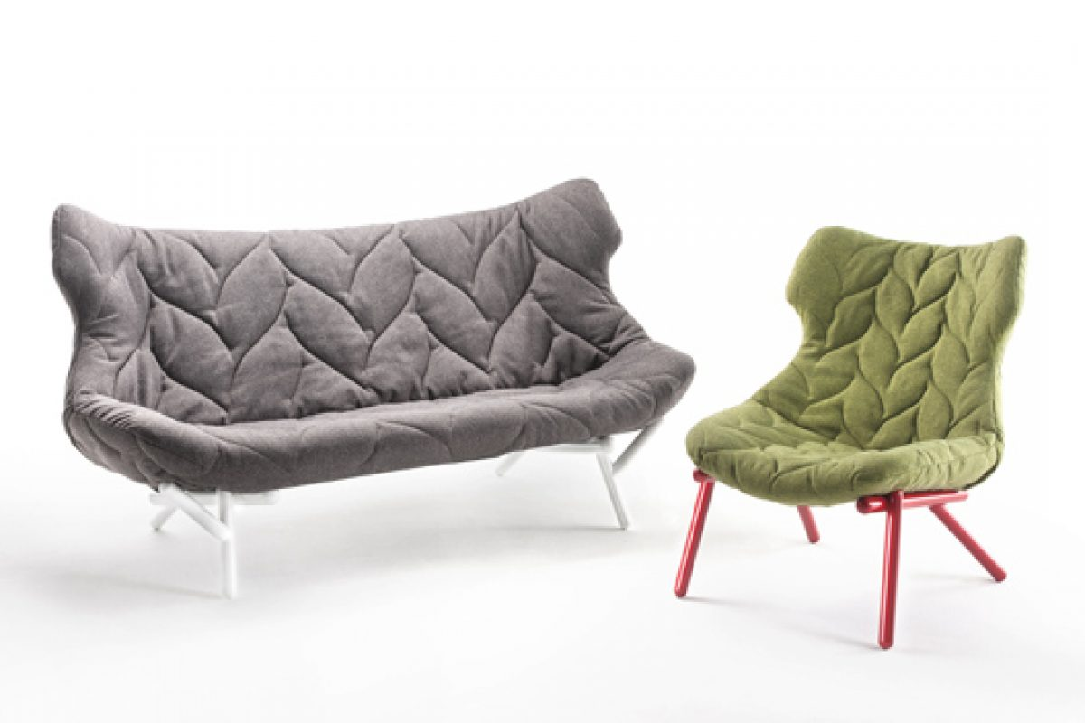 Sofa and armchair Foliage. A design by Patricia Urquiola for Kartell