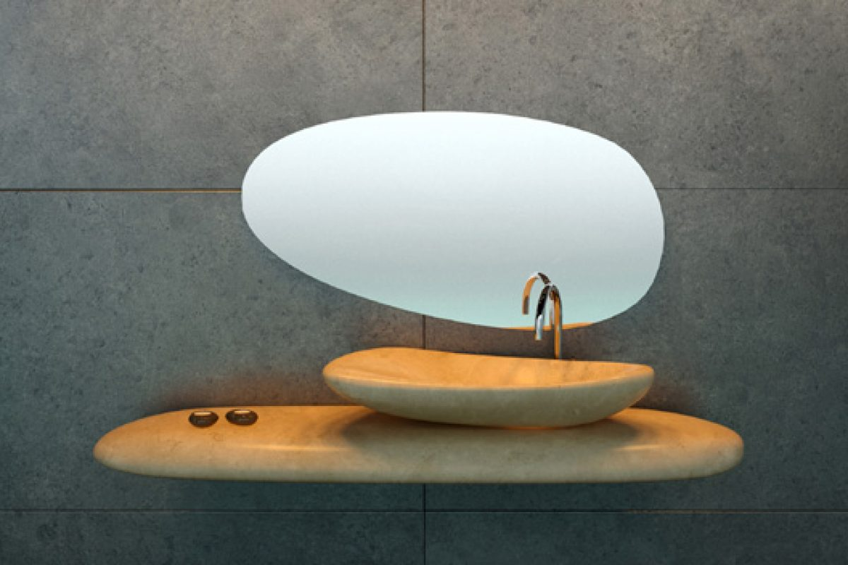 Dsignio Studio creates River Stone, the marble washbasin introduced by Peronda at Cersaie