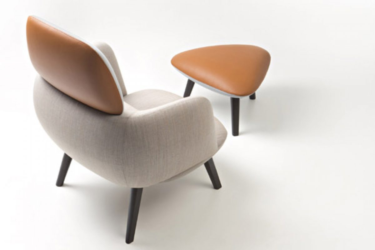 Betty lounge chair + ottoman. A design by Christoph Jenni for MaxDesign brand
