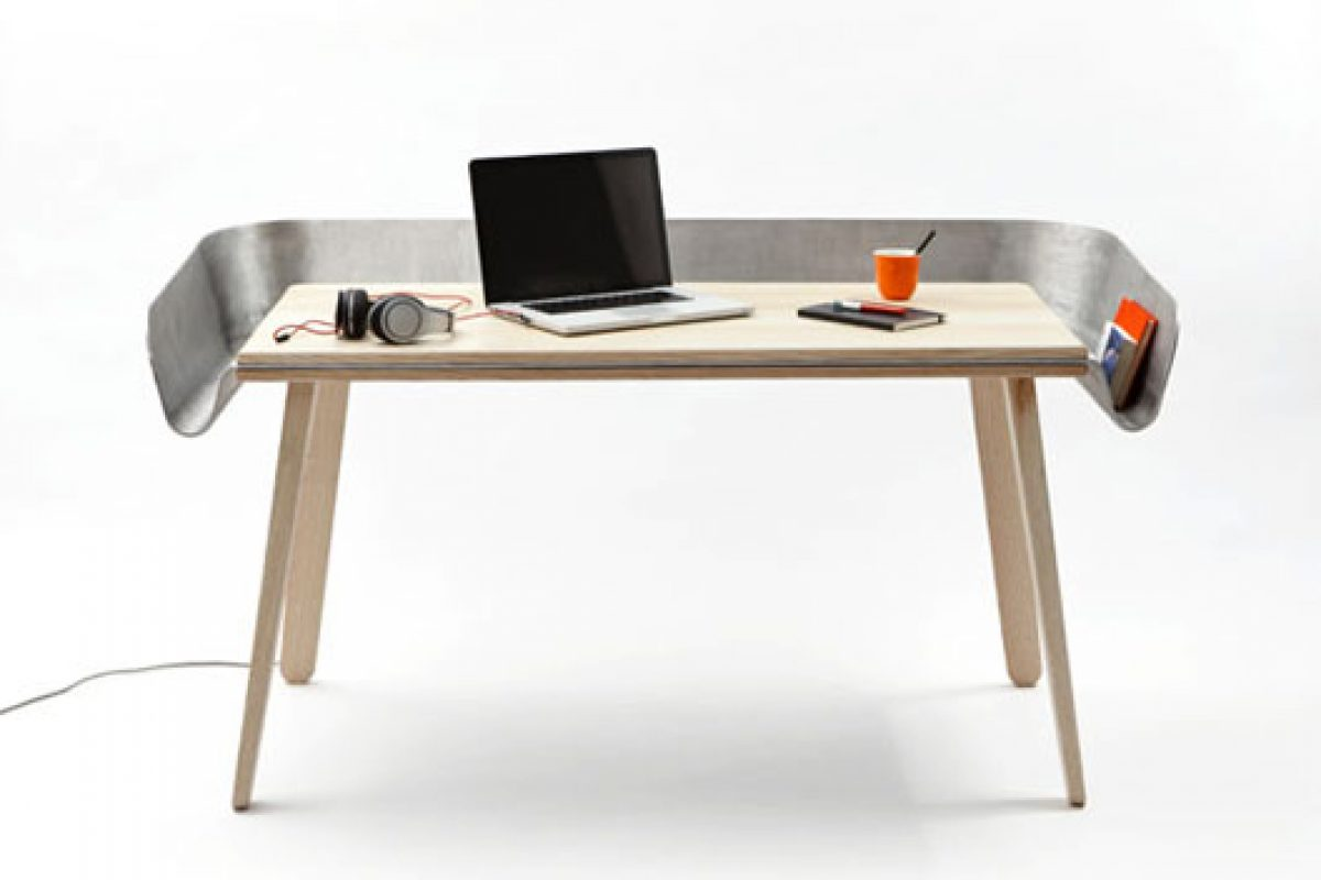Industrial look at Homework desk designed by Tomas Kral for Super-ette