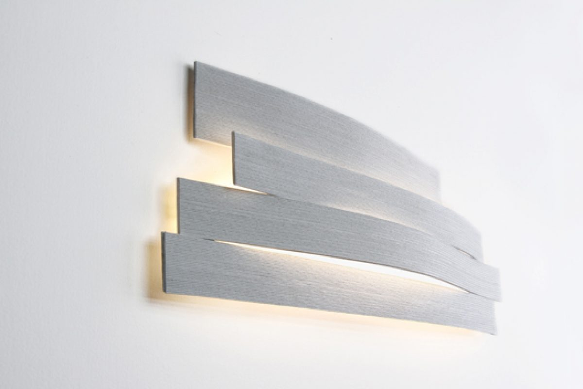 Sweet Zen aesthetic in LI wall lamp by Arturo Alvarez. Merging sustainability and Japanese technical