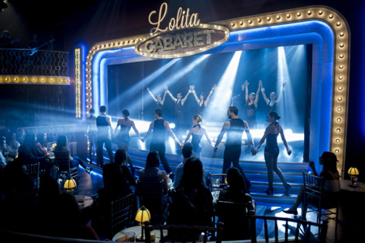 "The Garcia Requejo-Candelabro luminaires dazzle at ""Lolita's Cabaret"" TV series"