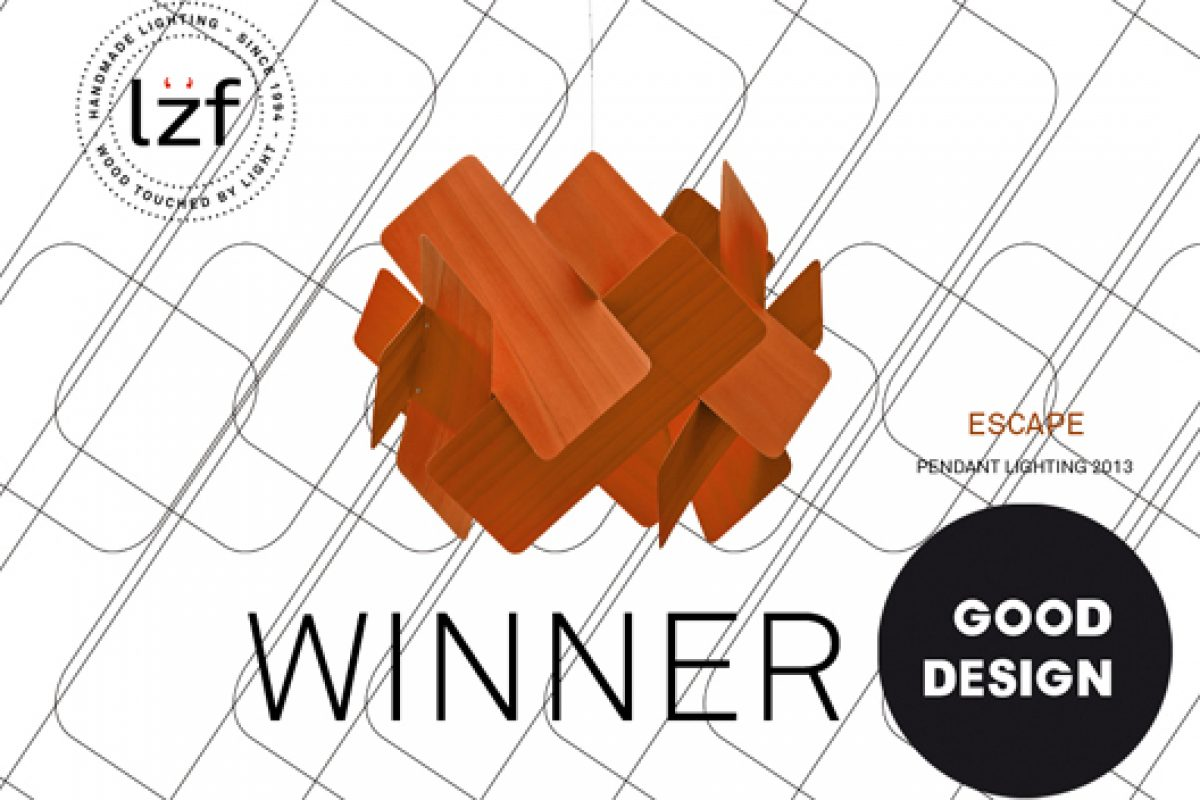 LZF Lamps adds a new Good Design Award 2013 recognition with the Escape lighting designed by Ray Power