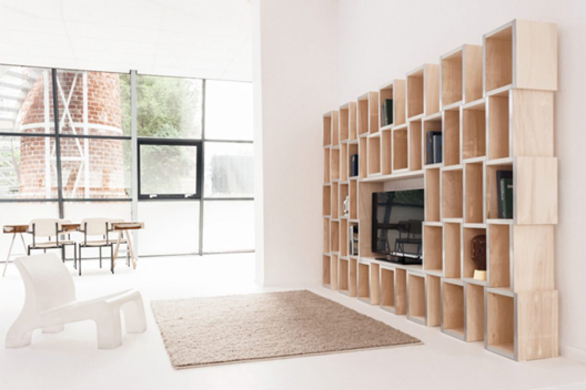 MODULAR shelves. The new creation by Reinier de Jong based on Gestalt principles