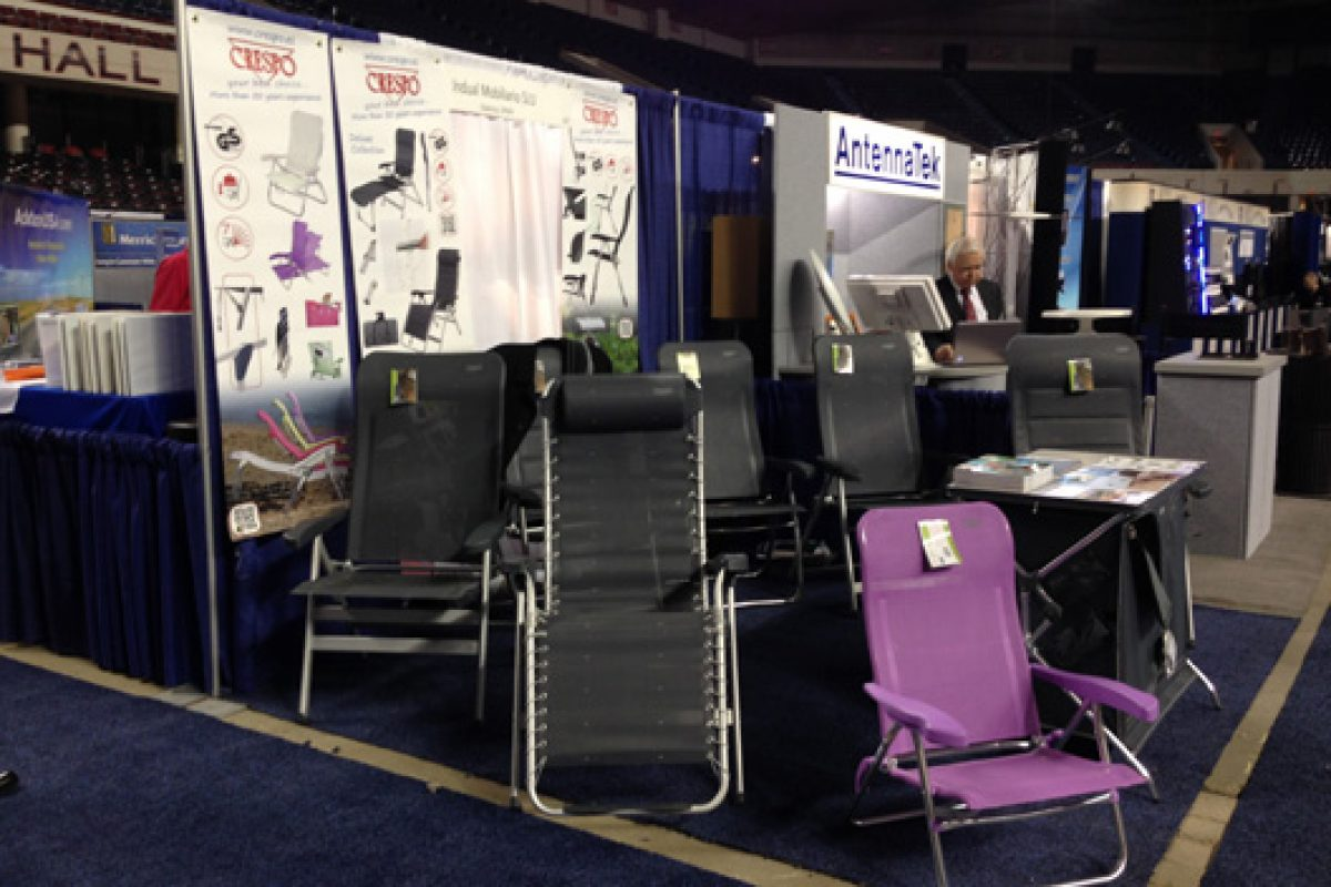 Crespo conquers U.S. with its furniture collections for camping and terrace at the fair in Lousiville, Kentucky